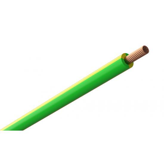Провод монтажный желто-зеленый (нг,LS,HF) TOXFREE ZH H07Z1-K 1X25 R100 (TOP Cable) 450/750V - Фотография №1