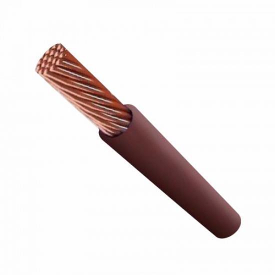 Провод монтажный коричневый (нг,LS,HF) TOXFREE ZH H07Z1-K 1X6 R100 (TOP Cable) 450/750V - Фотография №1