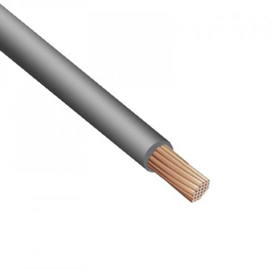 Провод монтажный серый (нг,LS,HF) TOXFREE ZH H07Z1-K 1X6 R100 (TOP Cable) 450/750V - Фотография №1