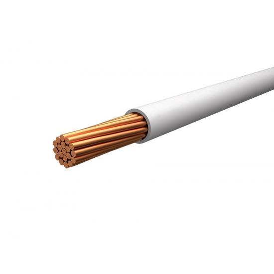 Провод монтажный белый (нг,LS,HF) TOXFREE ZH H07Z1-K 1X6 R100 (TOP Cable) 450/750V - Фотография №1