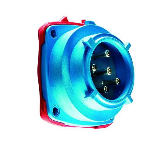 Вилка панельная (механизм) IP66/67 2P+E 30A 24V AC - Фотография №1