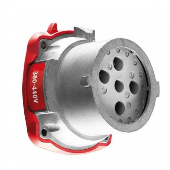 Вилка панельная (механизм) металл IP54 3P+E 20A 230V AC - Фотография №1
