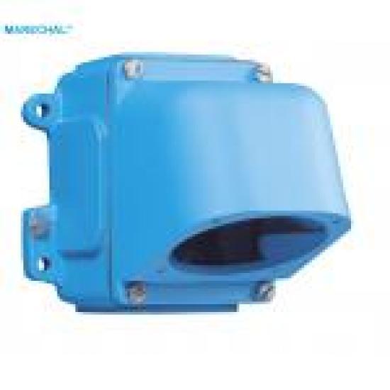 Настенная коробка-основание металл + угловой фланец металл (наклон 70°) с отверстием под кабельный ввод М32 - Фотография №1