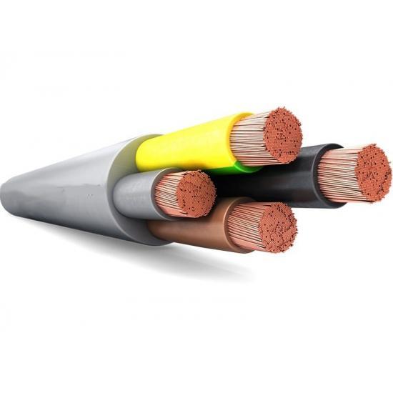 Кабель силовой гибкий в ПВХ оболочке Серый TOPFLEX VV-F H05VV-F 4х0,75 GRIS R50 (TOP Cable) 300/500V - Фотография №1