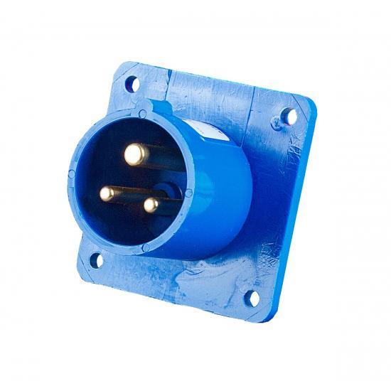 Вилка встраиваемая 16А/230V/1p+N+E/IP44 - Фотография №1