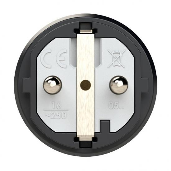 0511-bs Вилка кабельная 16A/250V/2P+E/IP54 корпус синий, маркер черный PCE - Фотография №2