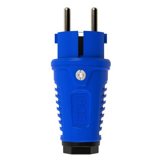 0511-bs Вилка кабельная 16A/250V/2P+E/IP54 корпус синий, маркер черный PCE - Фотография №1