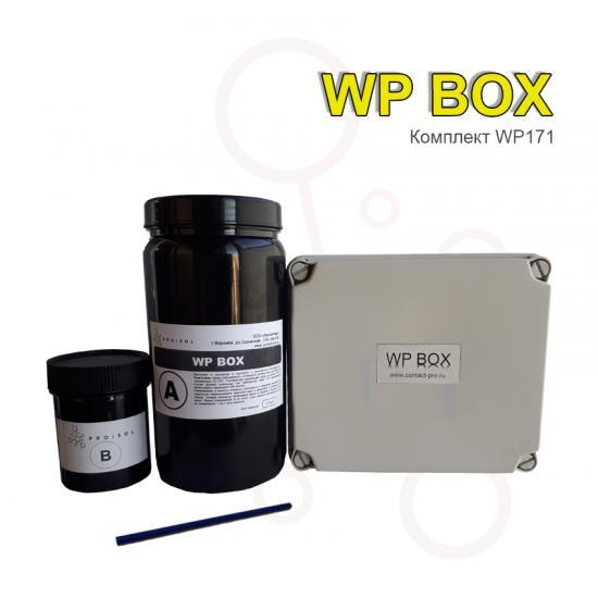 Коробка распределительная 151x175x95 в комплекте с заливным удаляемым компаундом Proisol, без клемм - Фотография №1