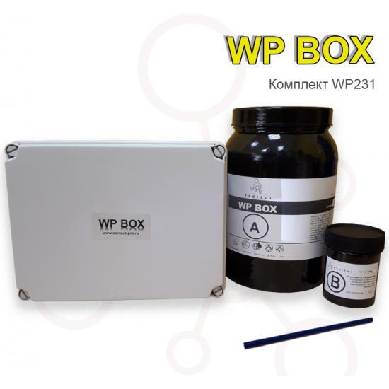 Коробка распределительная 180x241x95 в комплекте с заливным удаляемым компаундом Proisol, без клемм - Фотография №1