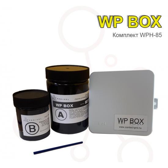 Коробка распределительная 85х85х40  в комплекте с заливным удаляемым компаундом Proisol, без клемм - Фотография №1
