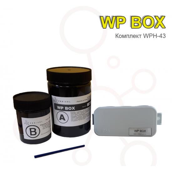 Коробка распределительная 43х80х35  в комплекте с заливным удаляемым компаундом Proisol, без клемм - Фотография №1